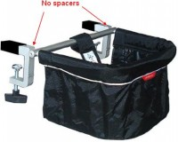 Chairs included in this recall do not have black plastic spacers between the cross bar and clamps.