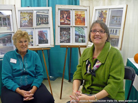 (Left to Right) Norma Steele, with the Heritage Center and Susan Jones, Publisher of Paris magazine, at the 19th Annual Small Business Expo.