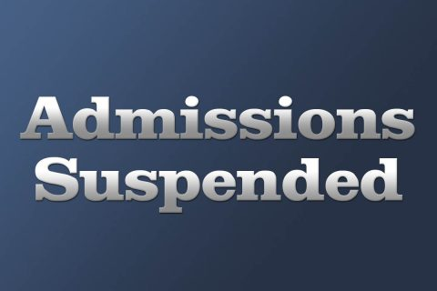 Admissions Suspended
